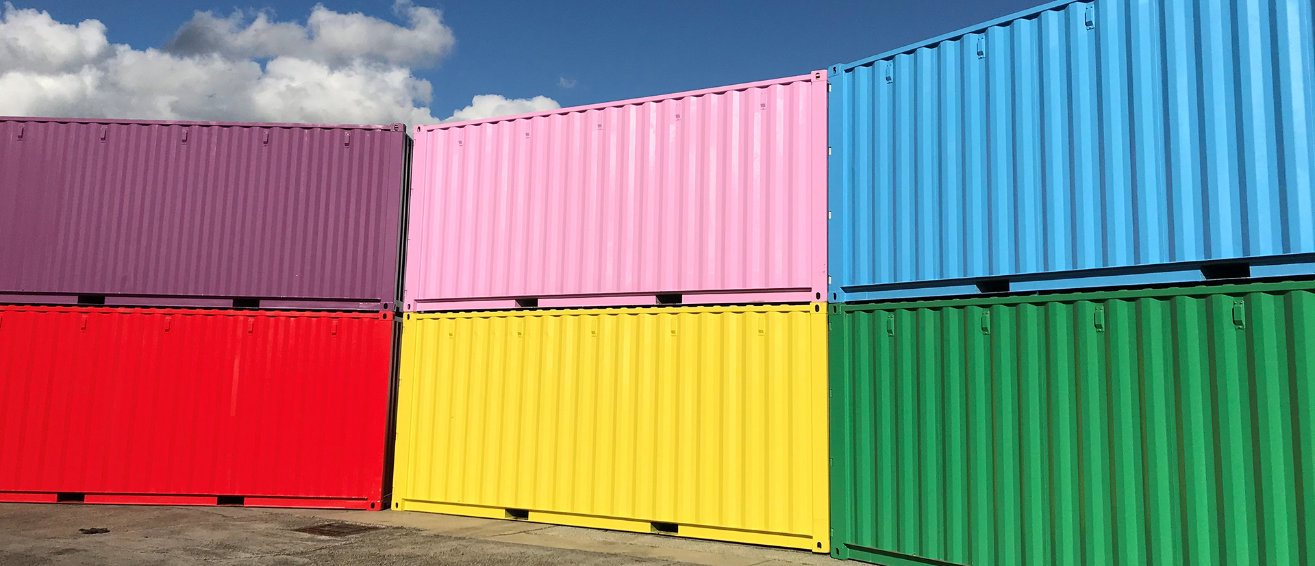 colourful shipping container storage - home banner